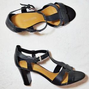 Franco Sarto Giada Black Heel Sandals 10